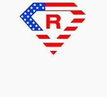 Super alphabet letter with USA flag Unisex T-Shirt