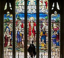 Stained glass window in St John the Baptist church, Bretherton by John Morris