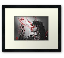 Vampire art - Underworld twilight queen in ultraviolet blood Framed Print