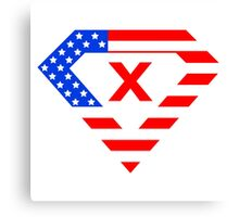 Super alphabet letter with USA flag Canvas Print