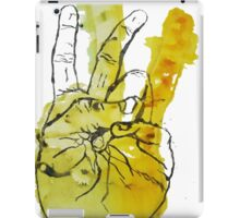 Peace Fingers Print iPad Case/Skin