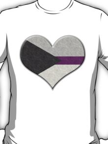 Demisexual Pride Heart T-Shirt
