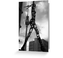 Berlin TV Tower & Arts - Welcome to Berlin, Germany Greeting Card