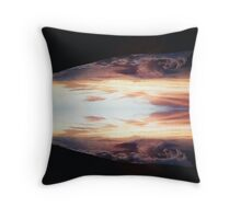 Mirrored Night Throw Pillow