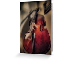 Stand Up Bass Greeting Card
