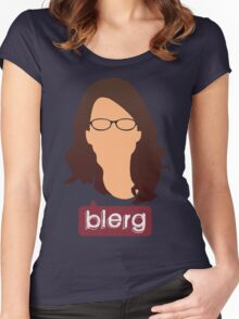 Liz Lemon - Blerg Women's Fitted Scoop T-Shirt