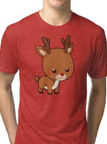 Cute Little Funny Reindeer Tri-blend T-Shirt