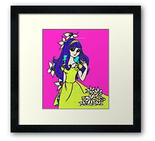 Girl With Lilies Framed Print