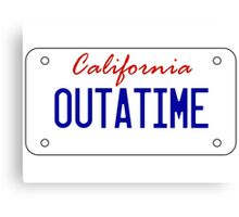 OUTATIME - licesnse plate Canvas Print