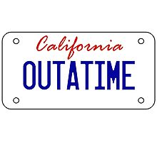 OUTATIME - licesnse plate Photographic Print