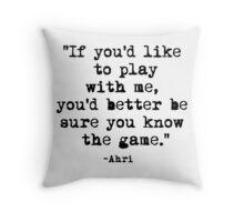 Ahri Quote Throw Pillow