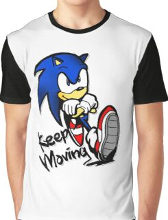 sonic keep moving Graphic T-Shirt