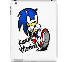 sonic keep moving iPad Case/Skin
