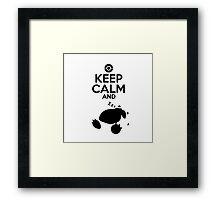 Keep Calm and Zzz Framed Print