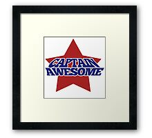Captain AWESOME Framed Print