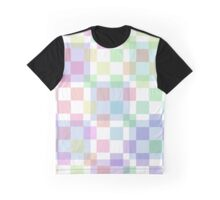 Pastel Checkers Graphic T-Shirt