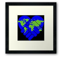 Cooperation,earth,peace,love of earth,contemporary art,modern,hands shaking hands Framed Print