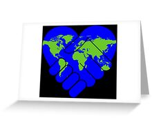 Cooperation,earth,peace,love of earth,contemporary art,modern,hands shaking hands Greeting Card
