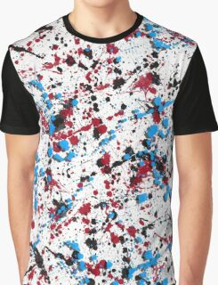 paint drop design - abstract spray paint drops 5 Graphic T-Shirt