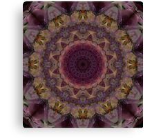 Mandala in violet, yellow and red tones Canvas Print