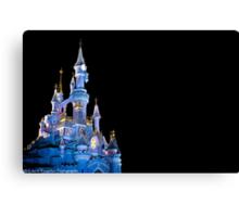 Sleeping Beauty Castle - Christmas Lights (Disneyland Paris) Canvas Print