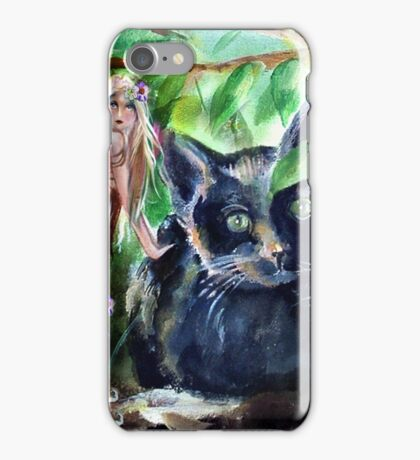 Midnight with Fairy in the Woods iPhone Case/Skin