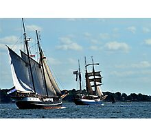 Sailing up the fjord Photographic Print