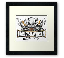 Harley community Framed Print
