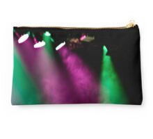 Coloured stage lights and smoke as a vivid colour background Studio Pouch