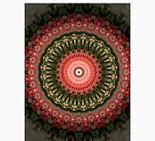 Mandala in bright green and red colors Unisex T-Shirt