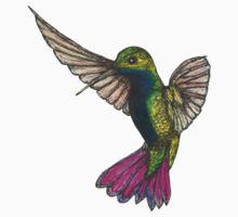 Black-throated Mango Hummingbird Kids Tee