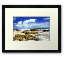 San Juan, Puerto Rico Beach  Framed Print