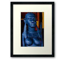 Statue of an African Woman Framed Print