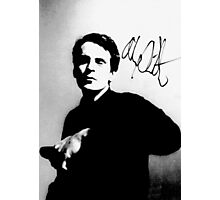 Alex Chilton pic with autograph tee Photographic Print