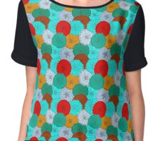 Bright Flower, Bright Flowers Chiffon Top