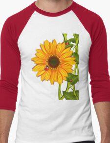Sunflower Ladybugs Men's Baseball ¾ T-Shirt