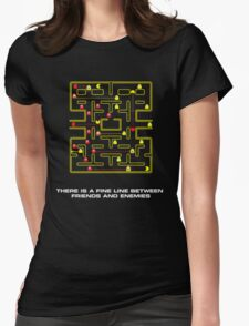 pac man video game  Womens Fitted T-Shirt