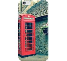 Red Telephone Box in England iPhone Case/Skin