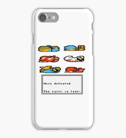 GAME OVER (with text) iPhone Case/Skin
