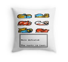 GAME OVER (with text) Throw Pillow