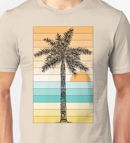 Palm Tree Sketch (Sunset) Unisex T-Shirt