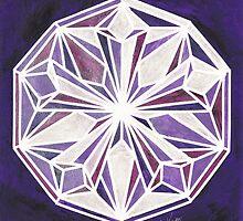 Amethyst Mandala by Kaitlee Venable