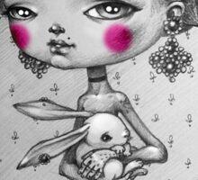 a Rabbit-girl Sticker