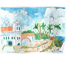Lighthouse and Mosque, Galle Fort Poster