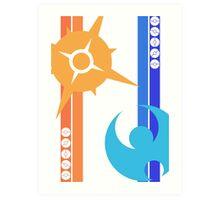Sun & Moon - Pokemon Art Print