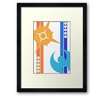 Sun & Moon - Pokemon Framed Print