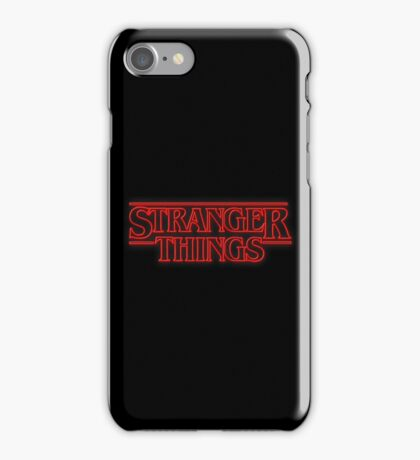Stranger Things Series logo iPhone Case/Skin