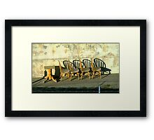 Table and Chairs © Framed Print