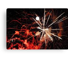 A Flash of Fireworks Canvas Print