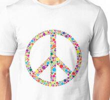 Peace Symbol with Polka Dots Illustration Unisex T-Shirt